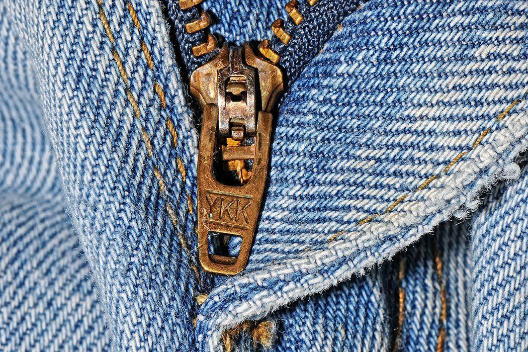 Denim zipper