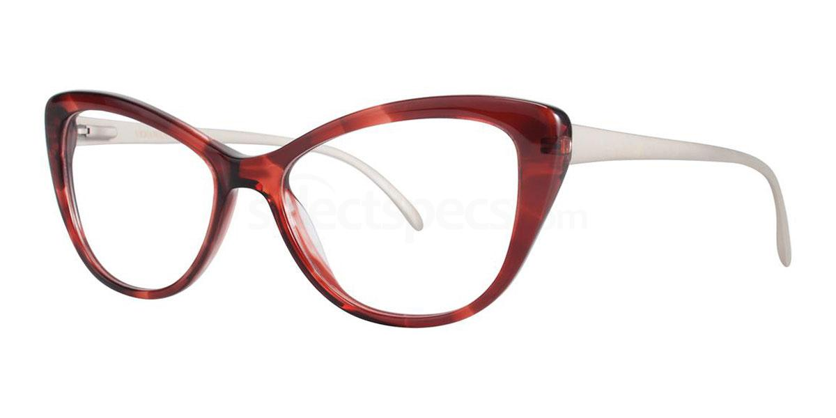 cat eye red glasses frames