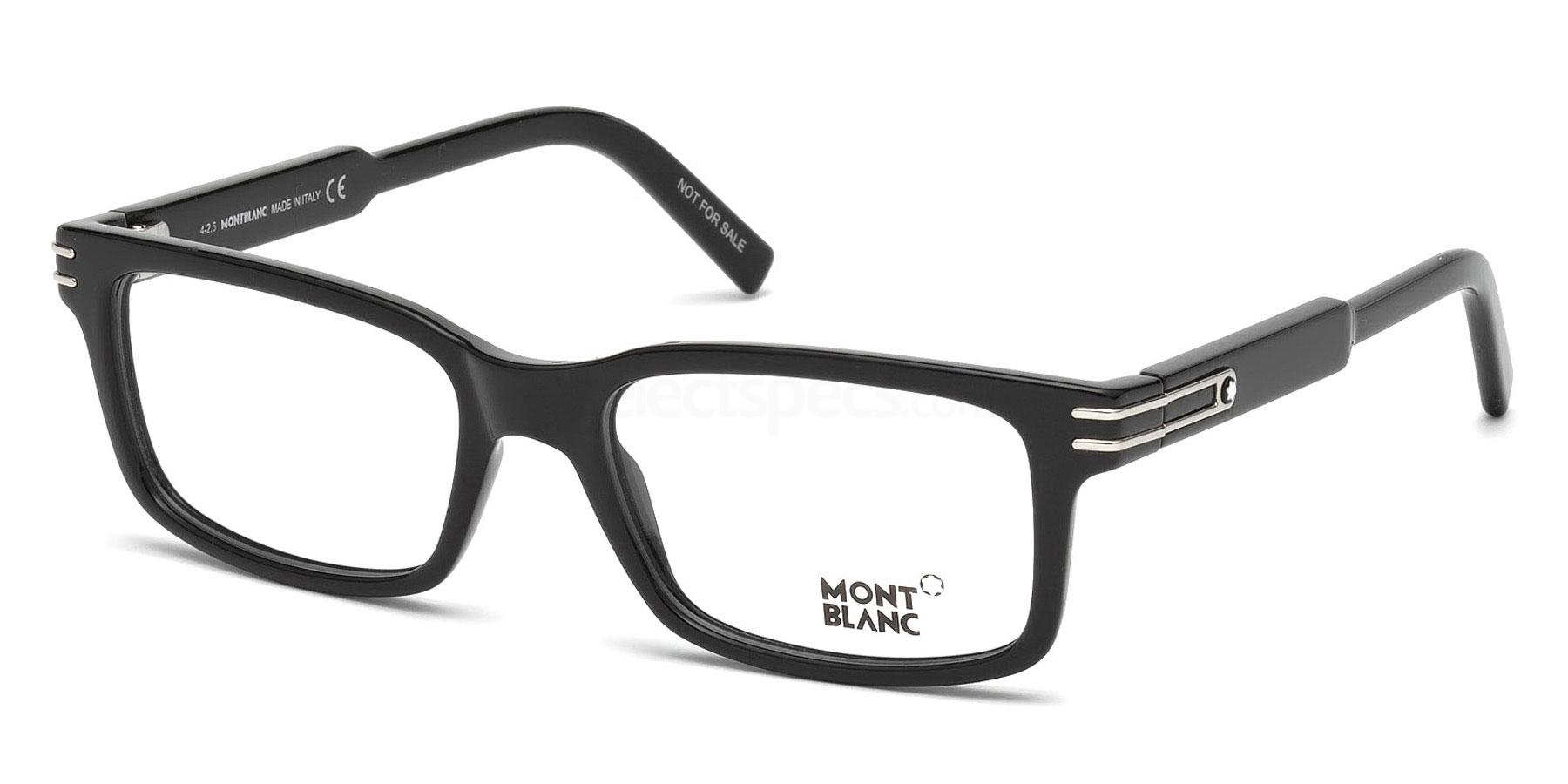 Mont Blanc black glasses