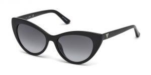cat-eye black sunglasses