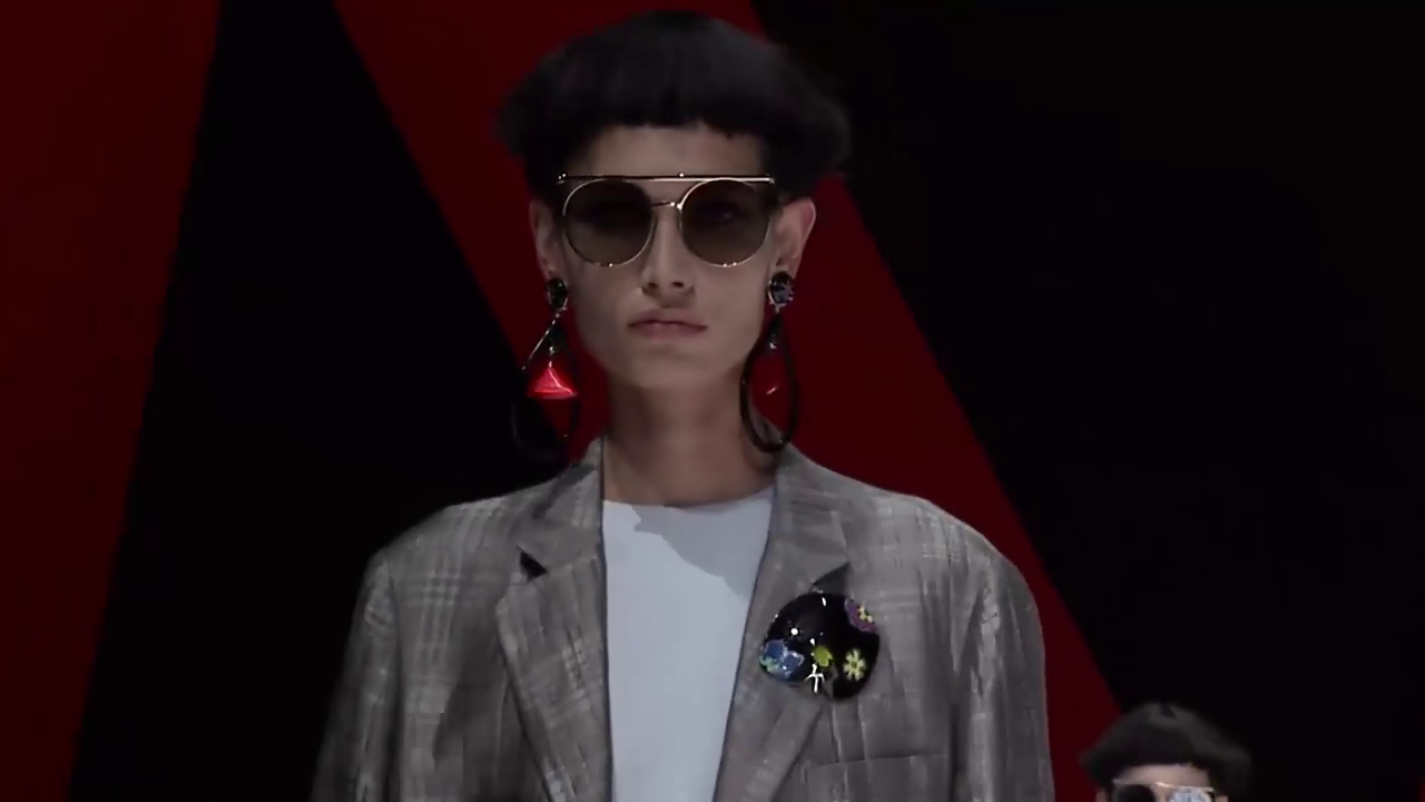 Armani Sunglasses futuristic frames 2018