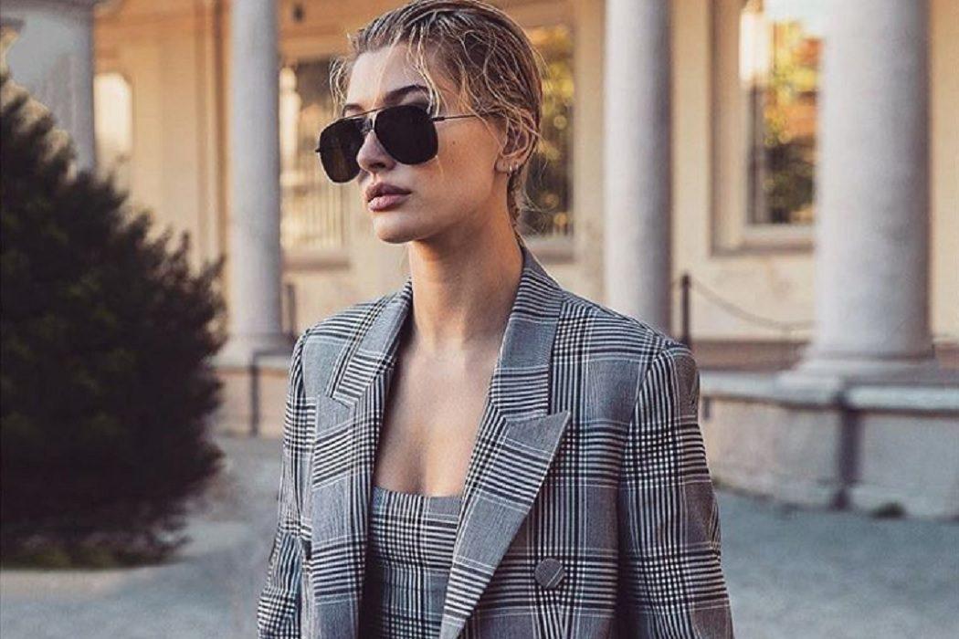 hailey bieber sunglasses style