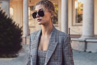 hailey bieber sunglasses style