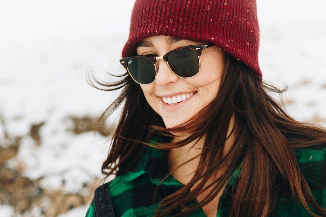 women's on trend sunglasses for winter walks