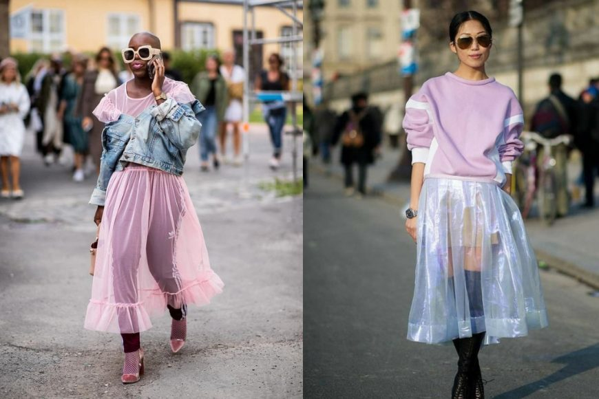 how to style sheer layers this season